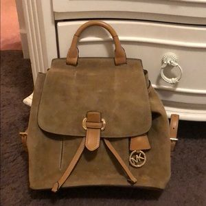 Michael Kors Suede Backpack